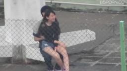 香港女孩天台口交