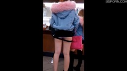 遮不住內褲的超短套裝